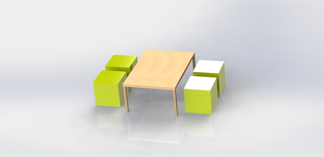 Low table and square sits