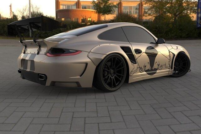 Porsche 911 RC Car Surface Design
