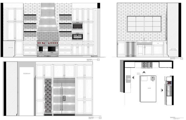 Kitchen Remodel Elevations & Floorplan