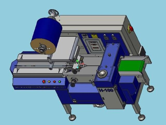 mechanical flow wrap machine