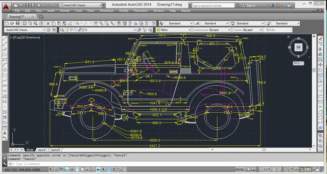 SUV autocad design