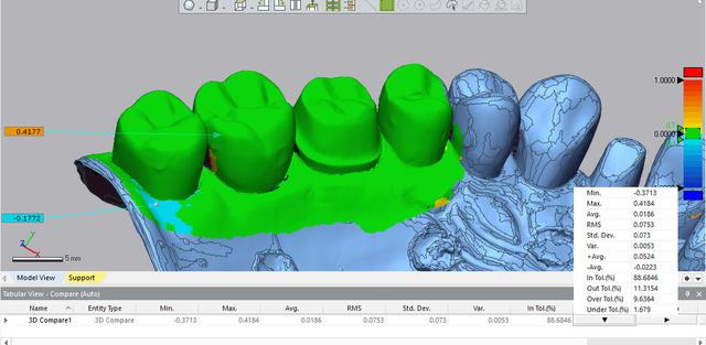 Model Comparison Using Geomagic
