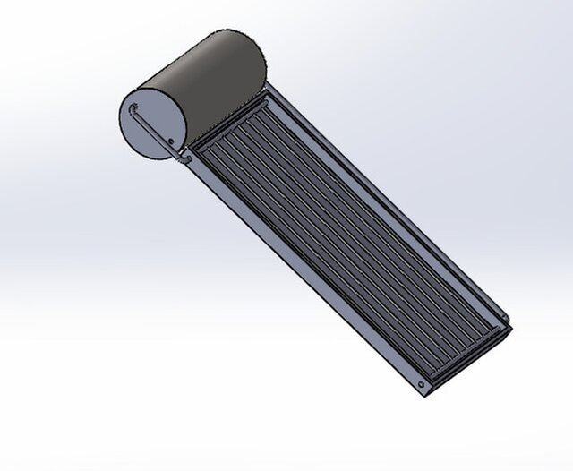 solar water heater with tank capacity of 100 liter per hour