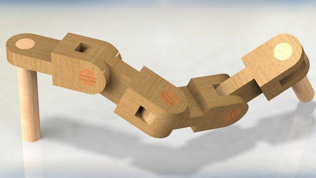 wooden chain