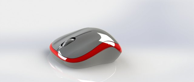 3D Mouse design Using SolidWorks & Photo Rendering