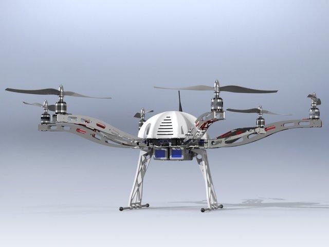Hexacopter Aluminum