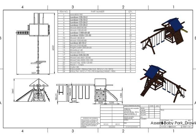 3D Design & Manufacturing plan of Children playground