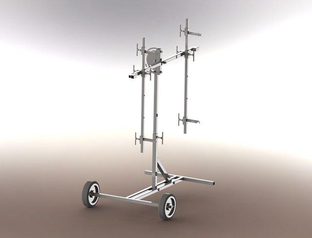 Rotation panel stand