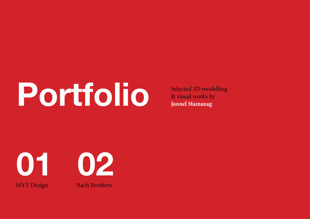 Jonnel Mamauag - 3D Works Portfolio