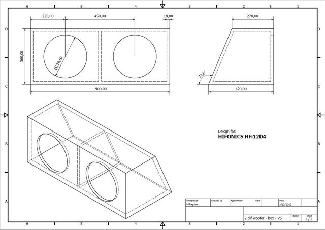 Double speaker - Subwoofer Enclosure