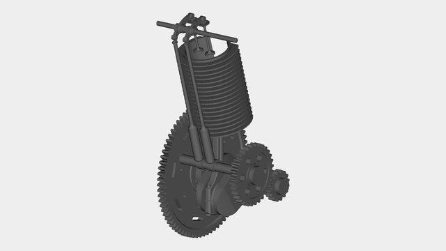 Single-Piston-Engine-Assembly
