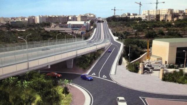 OVERPASS MULTISPAN BRIDGE AND SUPPORTS, MALTA