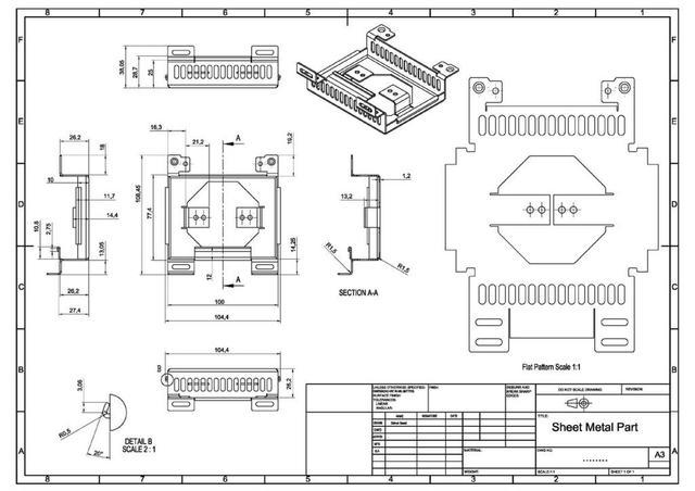 Sheet Metal Part 2D Drawing