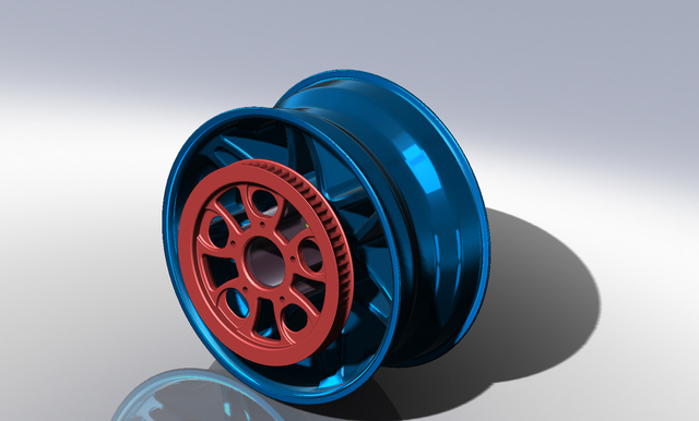 Rear Rim with Drive pulley