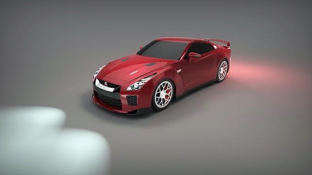 Catia Modeling & Keyshot Render (Nissan GTR) by Hüseyin EROĞLU