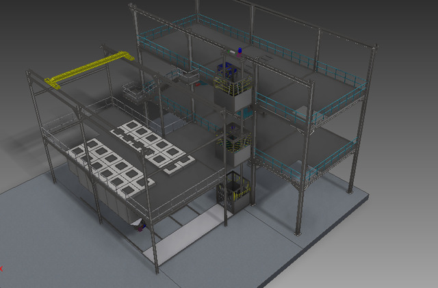 Refractory castable production line
