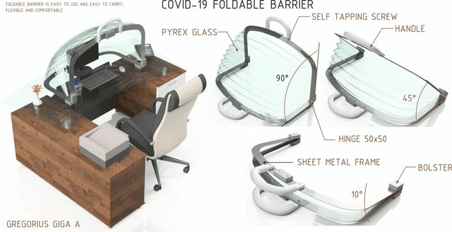 Covid-19 Foldable Barrier