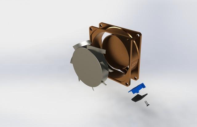 Cooling Fan / Ventilation Fan 8cm x 8cm x 2.6cm H