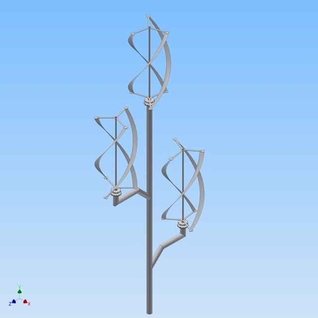 wind Turbine with a tree construction