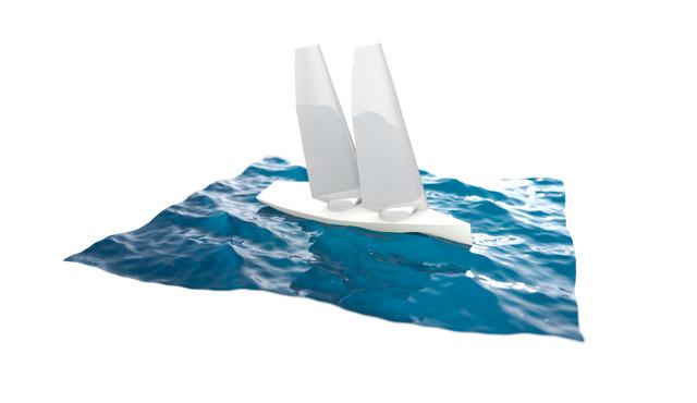 Sailboat render