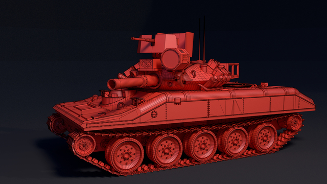 M551 Sheridan Tank - miniature for 3D-printing