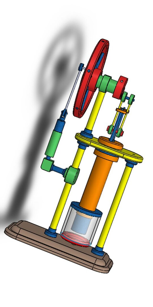 vertical STIRLING HOT AIR ENGINE