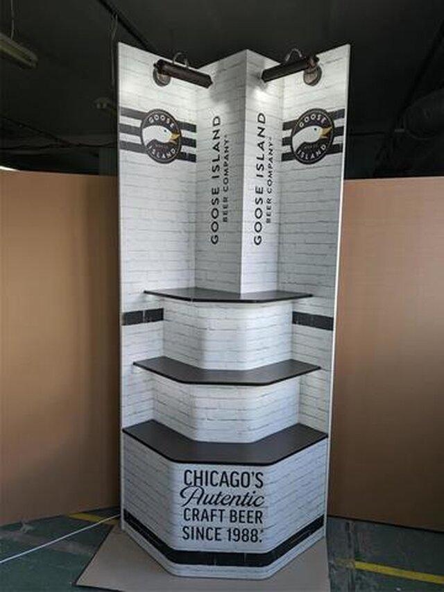 Promotion shelving for beer